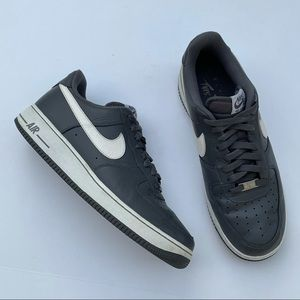RARE Nike Air Force 1 Dark Gray Leather Shoes
